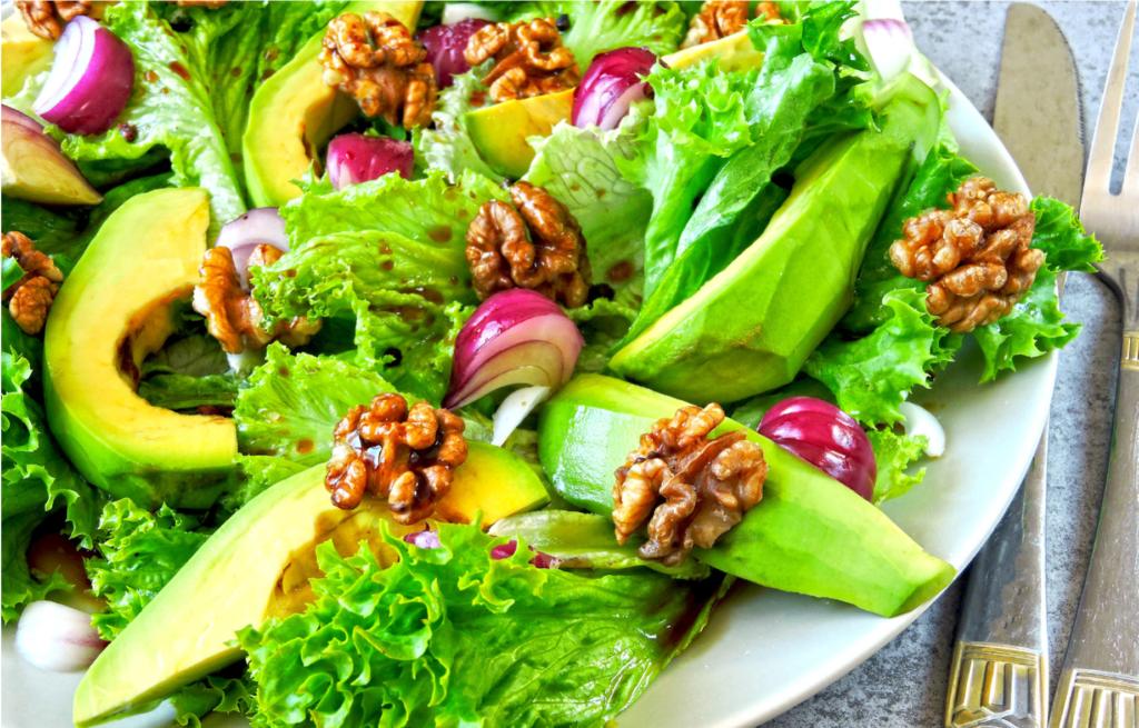 Avocado and Walnut Salad