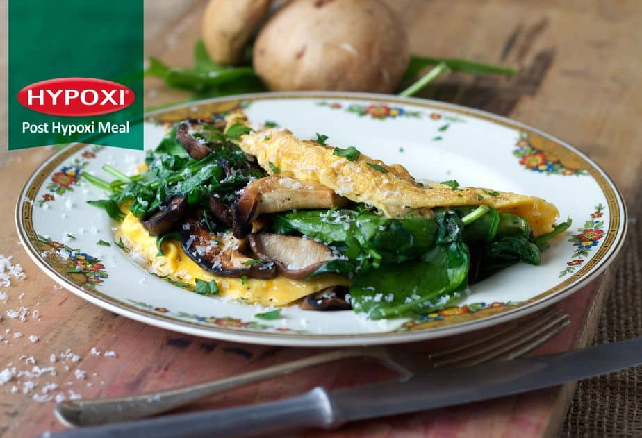 Mushroom & Spinach Omlette